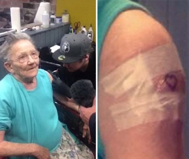 primera vez tatuaje abuelita