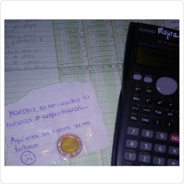 Cosas estudiante - los dos pesos que faltaron