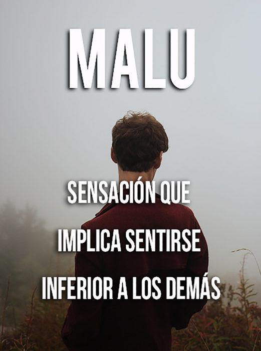 imagen que explica el significado de la palabra malu