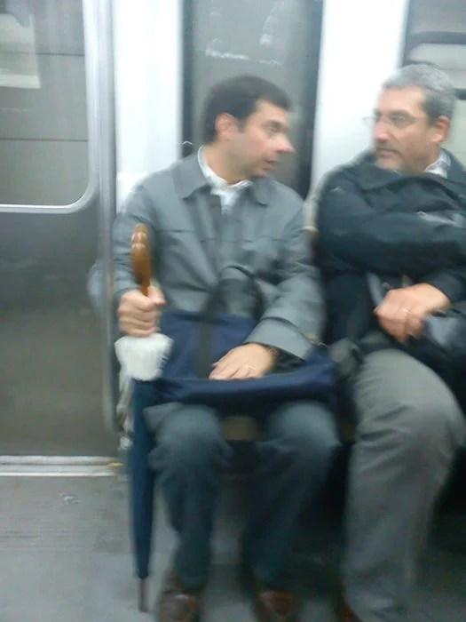 Mr. Bean en el transporte público
