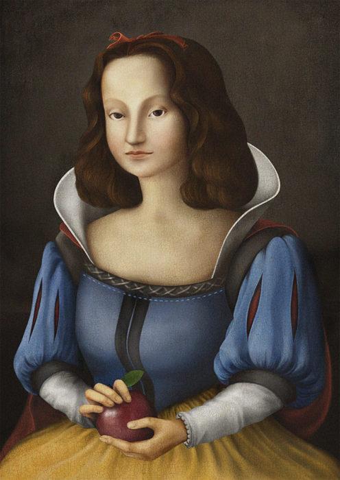 retrato renacentista princesa de siete enanos