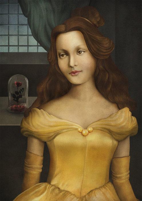 retrato renacentista princesa que le agrada leer