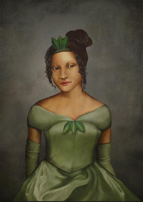 retrato renacentista princesa que besa sapos