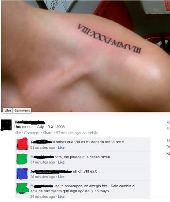 Fails tatuajes - ocho ó 5