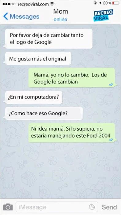mamá llamando a google