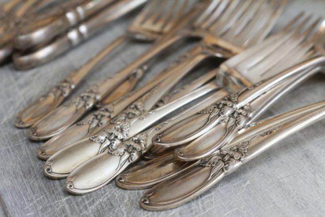 plata maicena trucos brillo tenedores