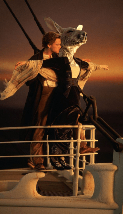Batalla Photoshop canguro - escena titanic