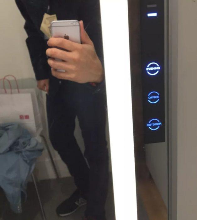 luz en vestidores