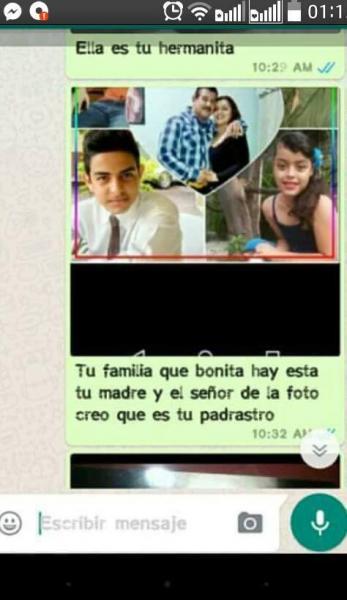 Chantaje WhatsApp - tu familia cuán bonita