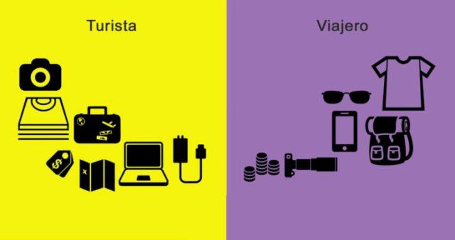diferencia viajante y turistas gadgets