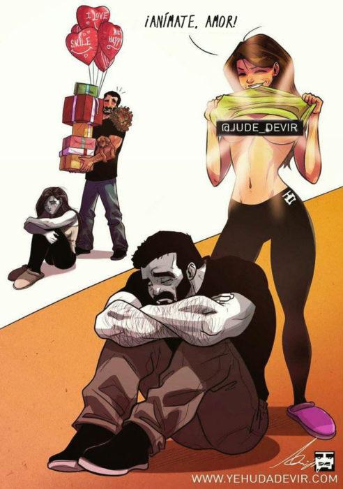 Ilustraciones Yehuda Adi Devir - esposa animandolo