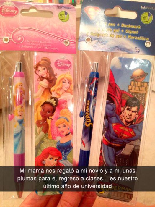 mamá plumas de princesas y superman