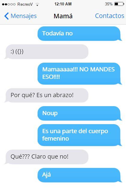 Mensajes graciosos mamá - es un abrazo