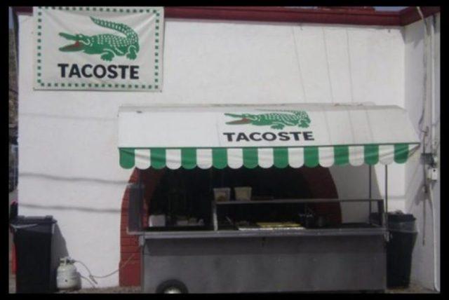 Tacoste colocado de tacos
