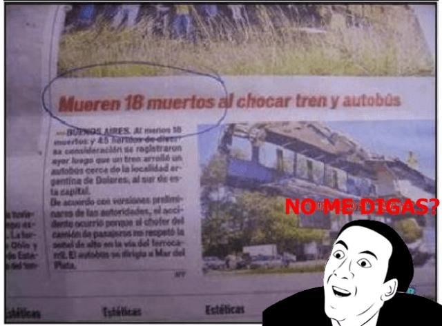 Nota periódico- mueren dieciocho muertos