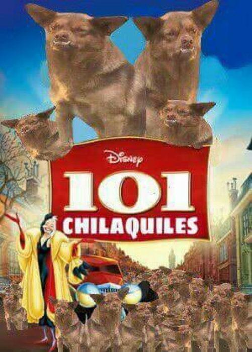 Poster de los 101 dálmatas con chilaquil