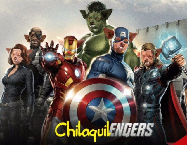 Poster de avengers con chilaquil