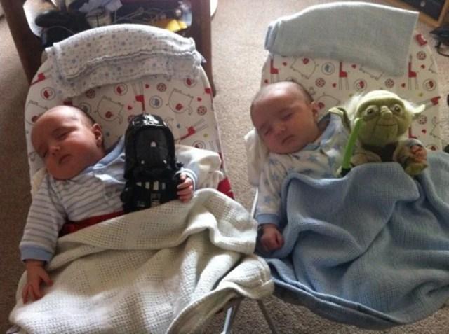 gemelos durmiendo