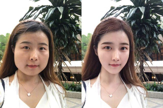 chica asiática modificó su mandíbula con edición