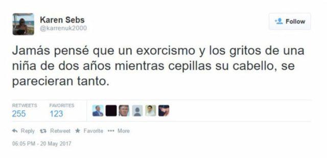 exorcista niña pelo tuit