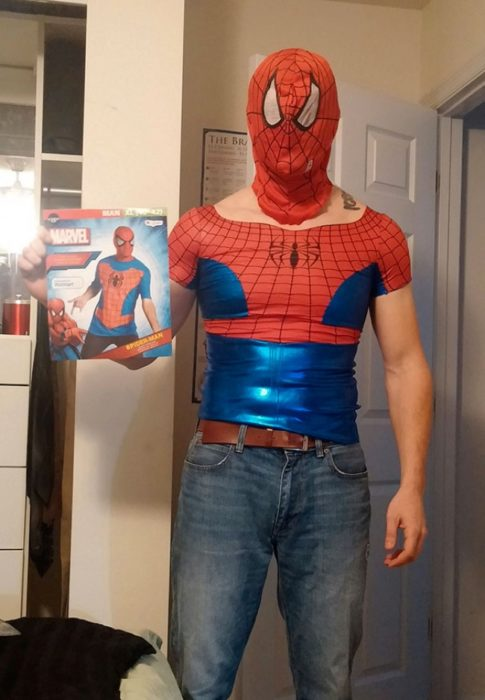 spiderman disfraz feo