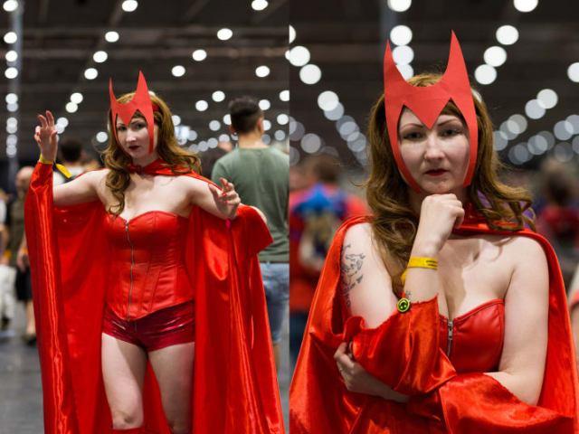 Bruja escarlata comicon convención cosplay