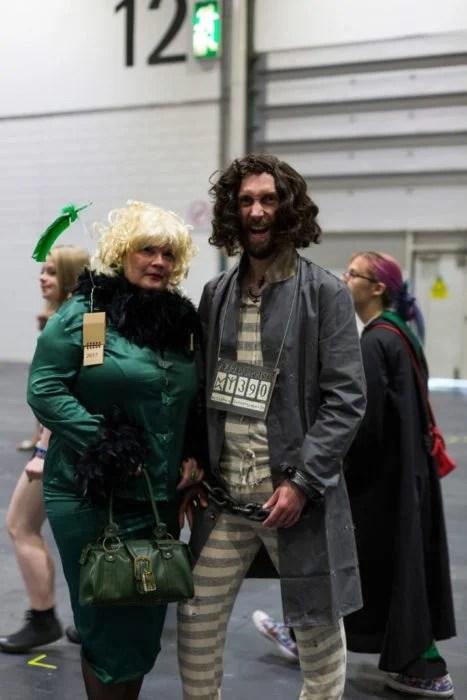 Sirius Black y Rita Skeeter Harry Potter cosplay