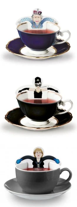 empaque de té con imagenes de celebridades