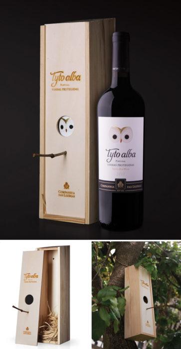 Caja de vino que puede ser utilizado de aviario