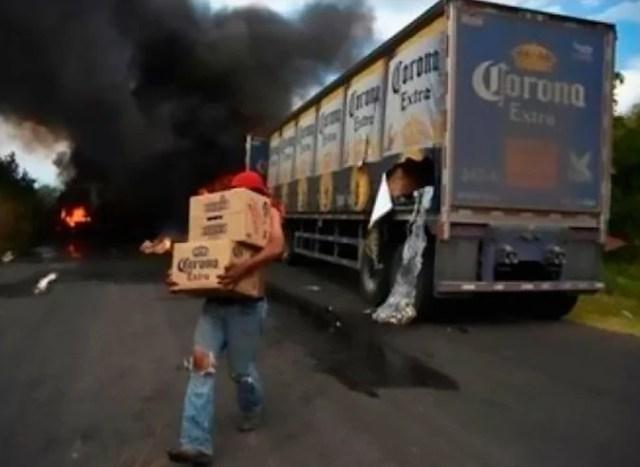 salva cerveza de incendiarse