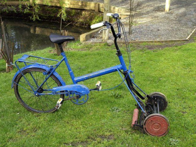 bicicleta podadora invento ingenioso hecho por latinos