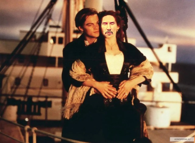 Batalla PS Keanu Reeves cual Rose en Titanic
