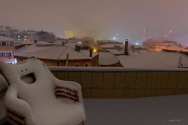 Feliz en la nieve