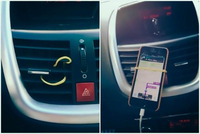 cómo detener tu celular en el carro