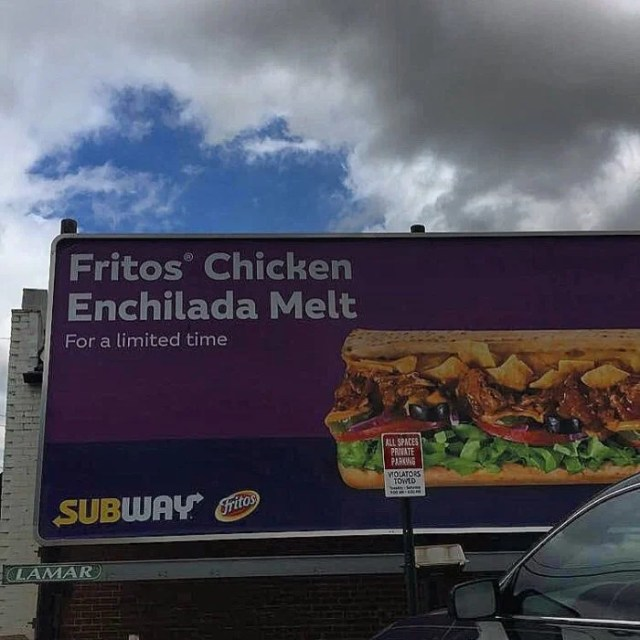 Subway enchiladas y fritos