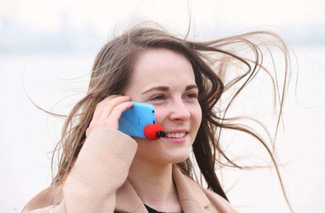 objeto para eludir que el viento no permita oír las llamadas