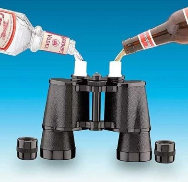 binoculares utilizados para guardar bebidas