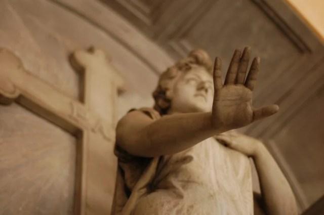 Esculturas arte funerario cementerio de Staglieno