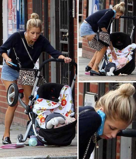 malos progenitores se le cae su bebé
