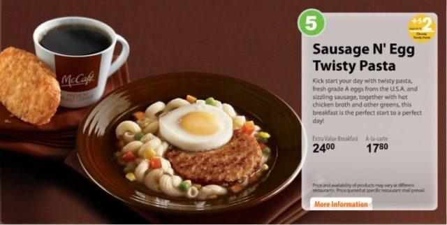 Sausage N'Egg Twisty Pasta