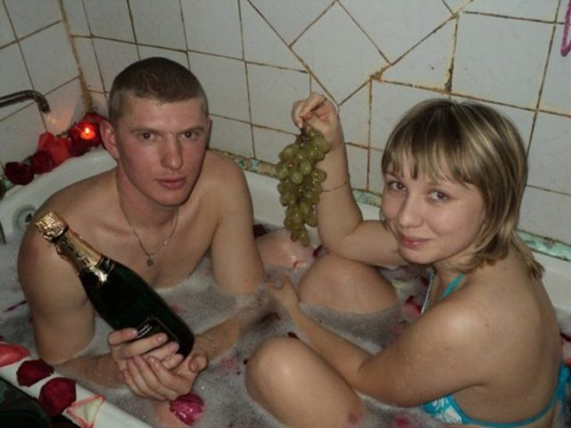 san valentin bañera rusos romanticos