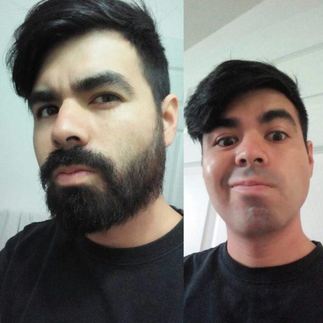 hombre luciendo su hacia afeitada