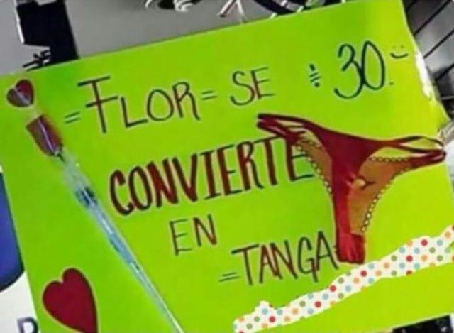 flor tanga invento ingenioso sólo en el mercado mas cerano
