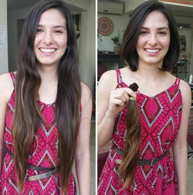 Mujer con pelo muy largometraje se lo corta