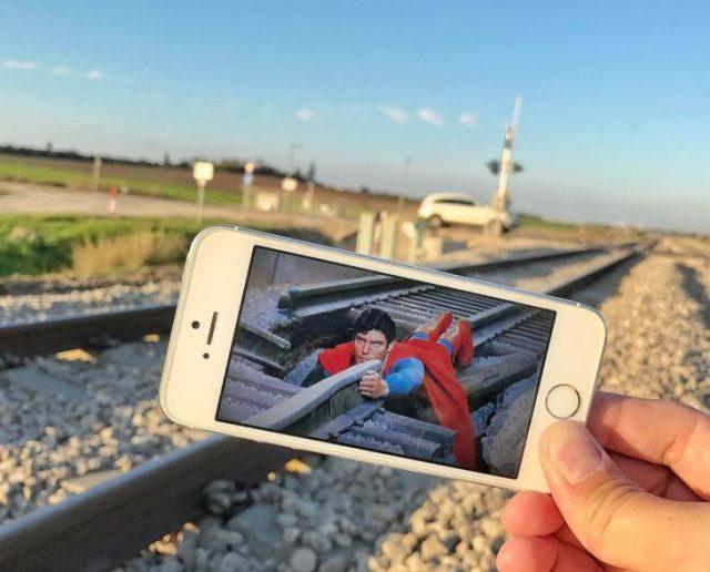 superman vias del tren