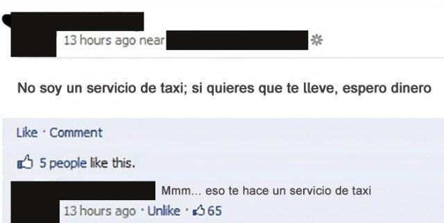 Gente tonta - no soy taxista