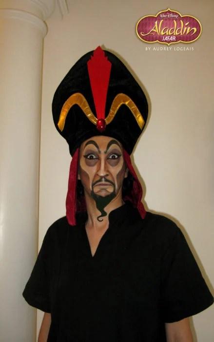 Aladdin jafar maquillaje