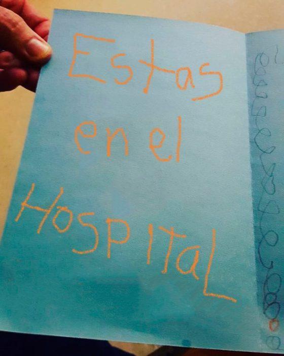 tarjeta estás en el hospital