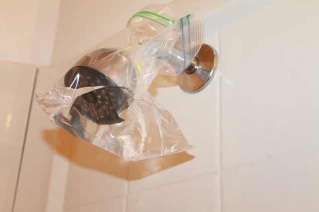 regadera agua limpieza
