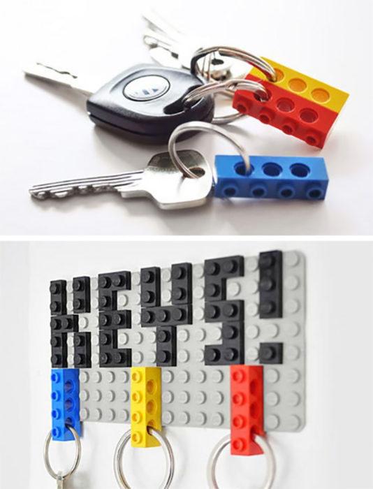 Legos llaves bloques de colores